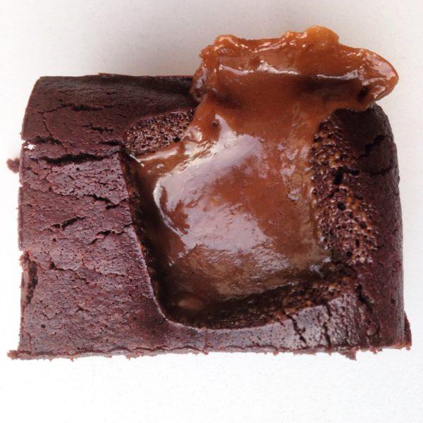 Delicious handmade salted butterscotch gooey Colombian dark chocolate brownie