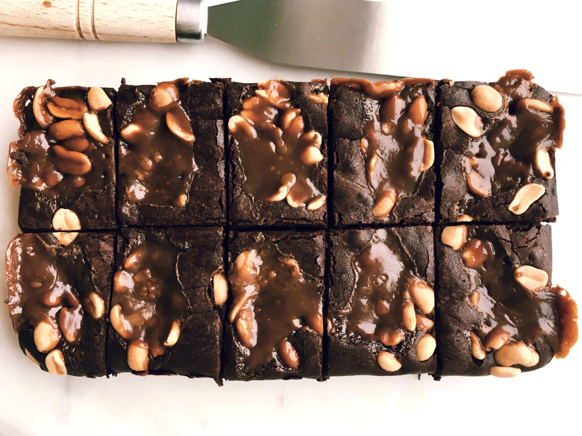 The Salt Roasted Peanut & Butterscotch Brownie – serves 10