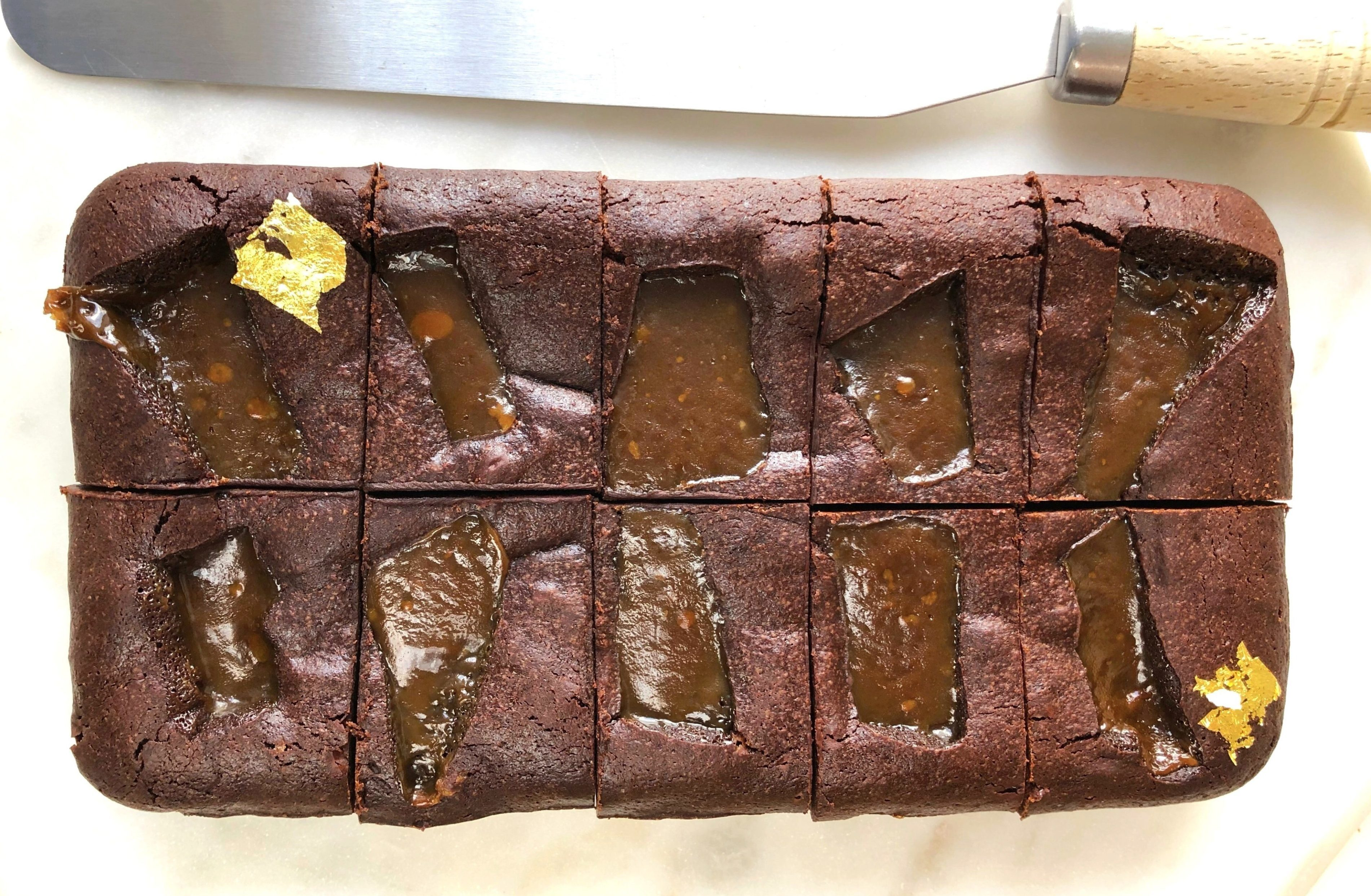 Mother's Day Sea Salted Butterscotch Brownies – serves 10