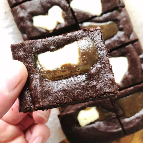 Buttermint Chocolate Brownies- serves 10