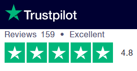 Trustpilot rating and reviews 4.8 out of 5 and Excellent from 150+